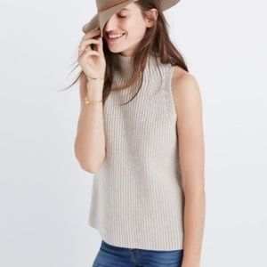 Madewell Mock Neck Clean Stone Summer Sweater XXS